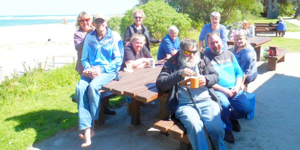 Bass Valley Friendship Club enjoying a BBQ at the French View Caravan Park in Grantville